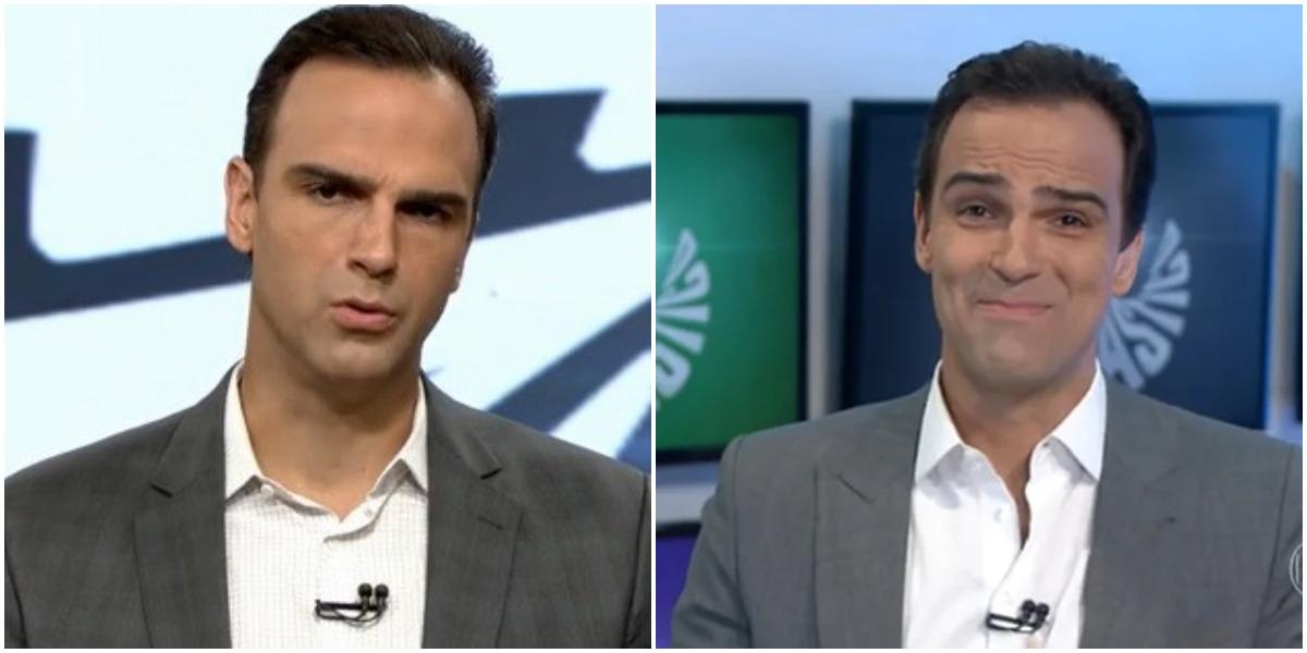 O apresentador da Globo, Tadeu Schmidt (Reprodução)