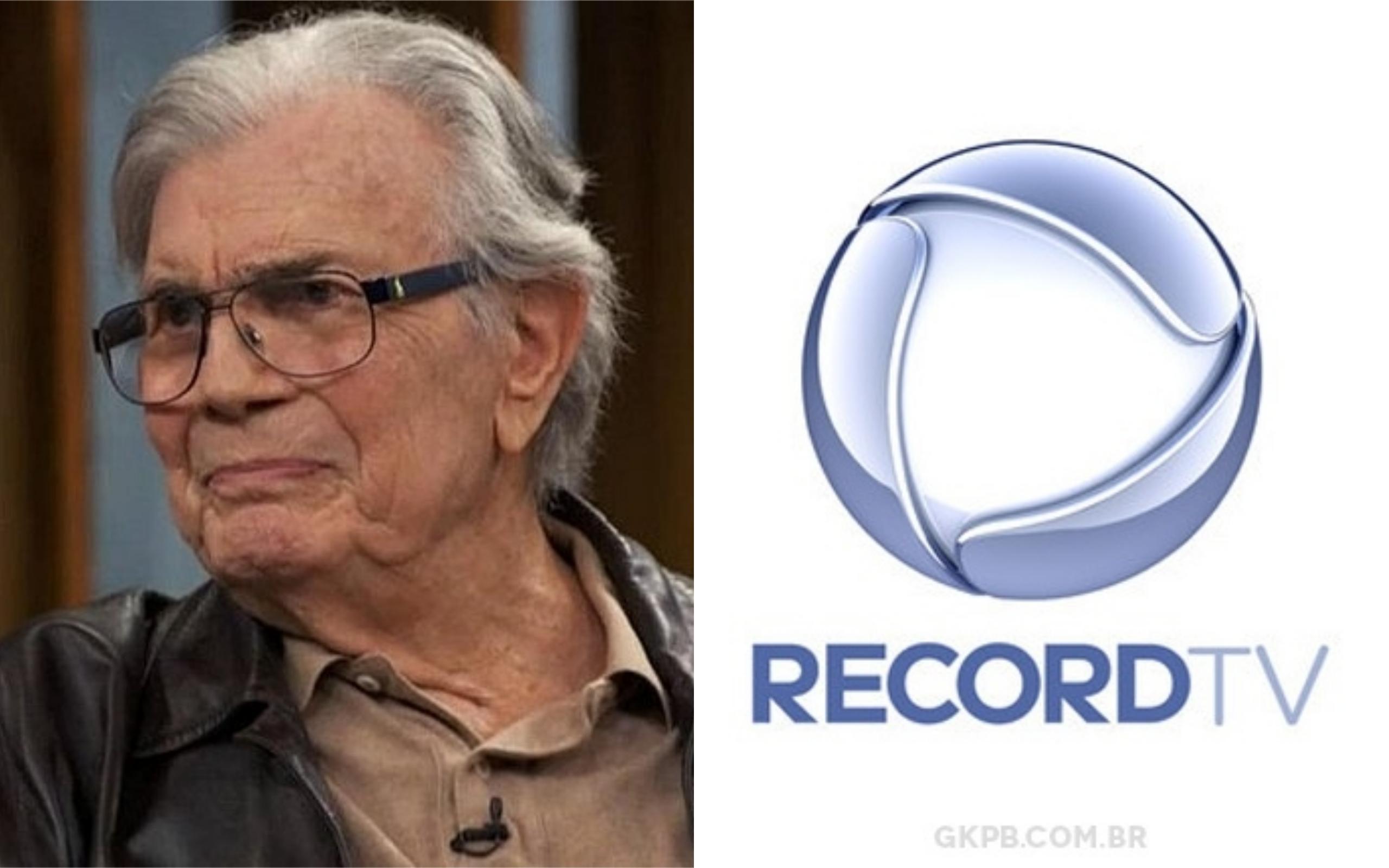 O ator tarcísio Meira deu entrevista para a Record (Foto: Divulgação)