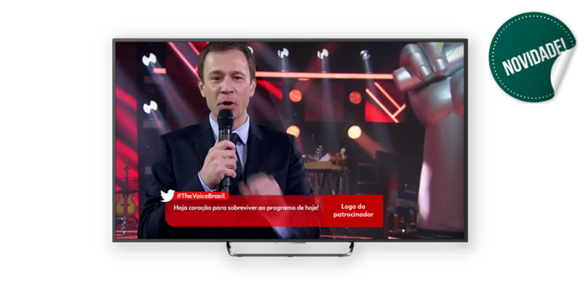 Ação de interação do The Voice Brasil oferecida a anunciantes (Foto: Reprodução)