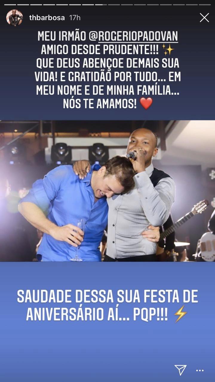 Thiaguinho se declarou para um rapaz (Foto: reprodução/Instagram)
