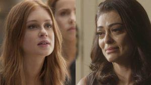 Eliza (Marina Ruy Barbosa) verá Carolina (Juliana Paes) implorar perdão em Totalmente Demais (Foto: Reprodução/Globo)
