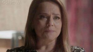 Lili (Vivianne Pasmanter) revela que Germano (Humberto Martins) é pai do seu filho em Totalmente Demais (Foto: Reprodução/Globo)