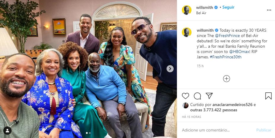 O ator Will Smith compartilhou foto com seus seguidores - Foto: Montagem