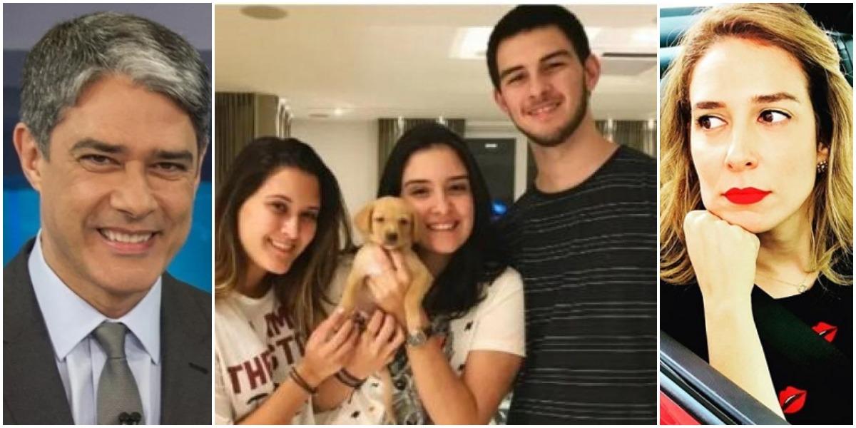 Casado com Natasha Dantas, William Bonner é pai de 3 da relação com Fátima Bernardes (Reprodução)