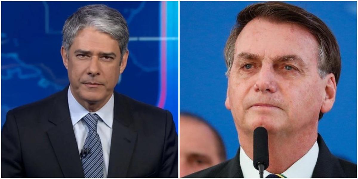 O jornalista William Bonner virou alvo de Bolsonaro - Foto: Montagem