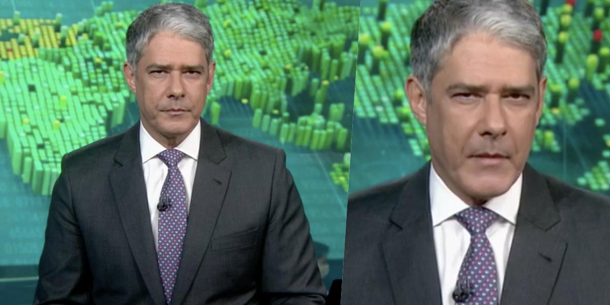William Bonner no comando do 'Jornal Nacional' (Foto: reprodução/Globo)