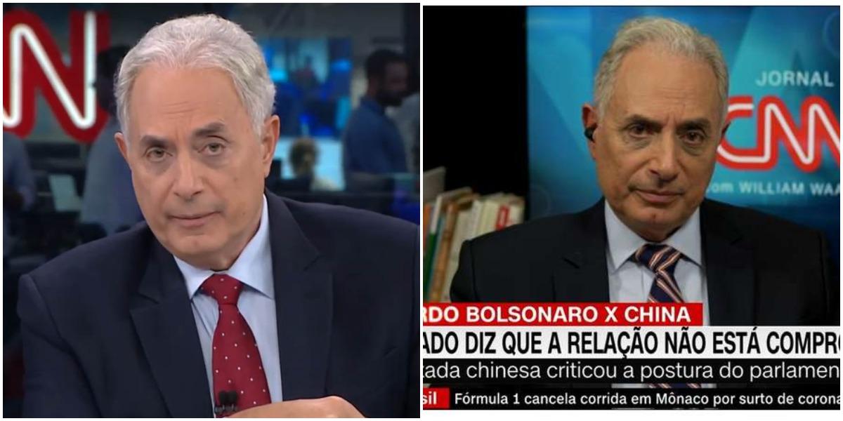 William Waack comanda o Jornal da CNN - Foto: Montagem