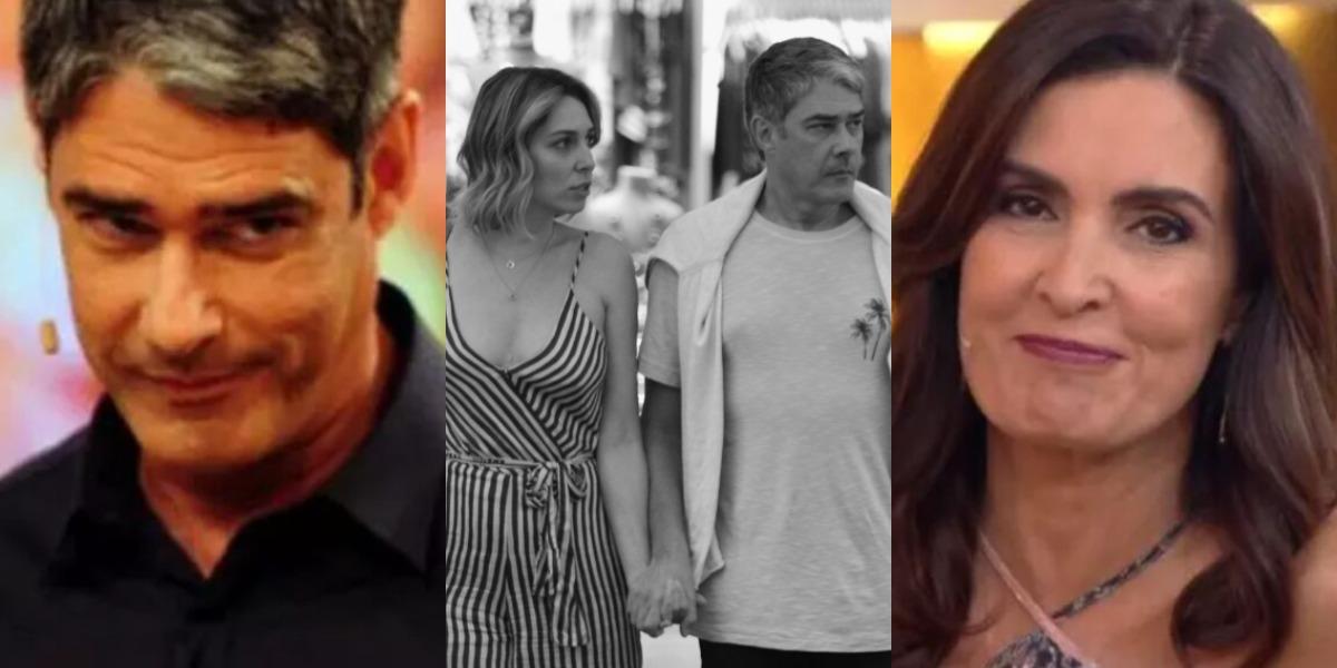 William Bonner, ex de Fátima Bernardes, é casado com Natasha Dantas (Foto: Reprodução/TV Globo/AgNews)