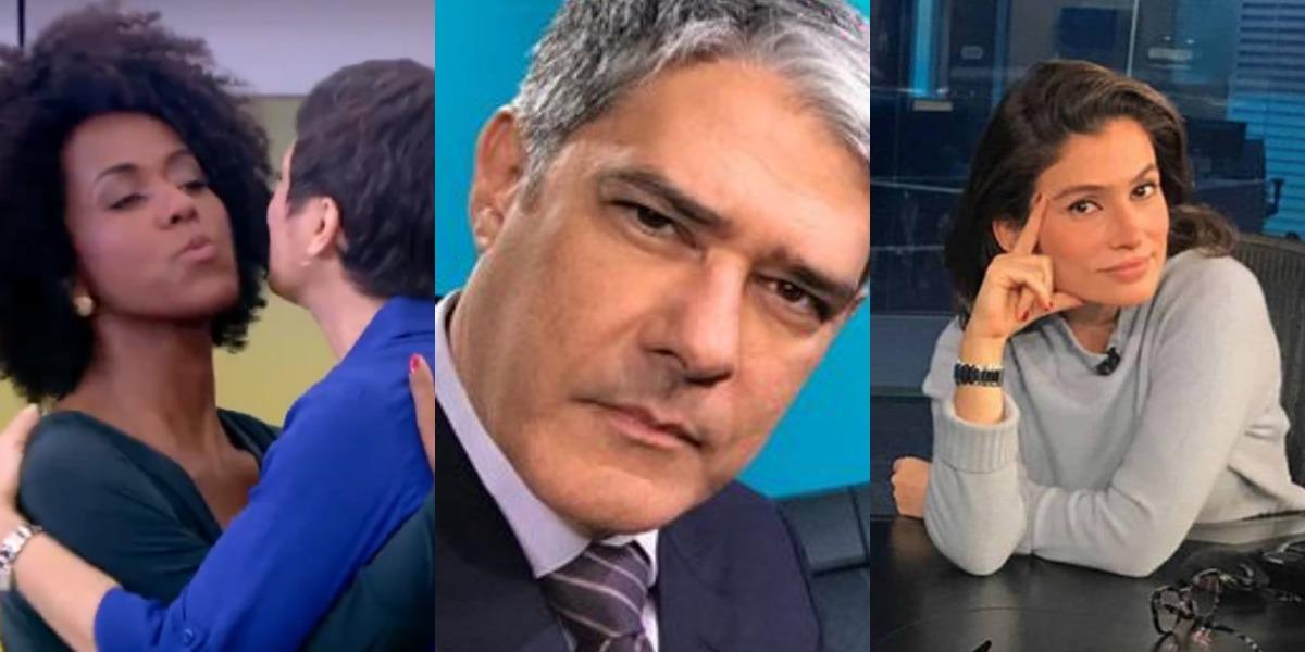 William Bonner, Renata Vasconcellos, Maju Coutinho e Sandra Annenberg deixarão seus postos atuais (Foto: Reprodução/TV Globo/Twitter)