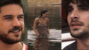Fotomontagem de Zeca, Ruy e Ritinha da novela A Força do Querer