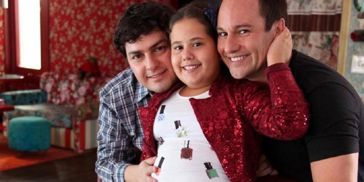 Ana Karolina Lannes e seus pais (Foto: Reprodução)