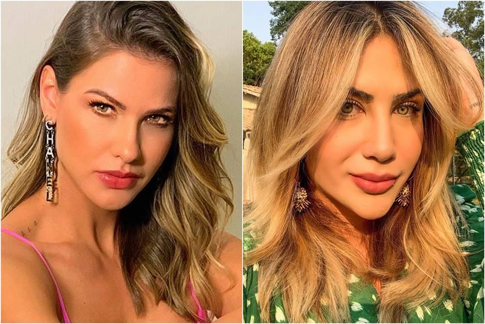 Andressa Suita e Jéssica Costa, filha de Leonardo (Foto: Reprodução)