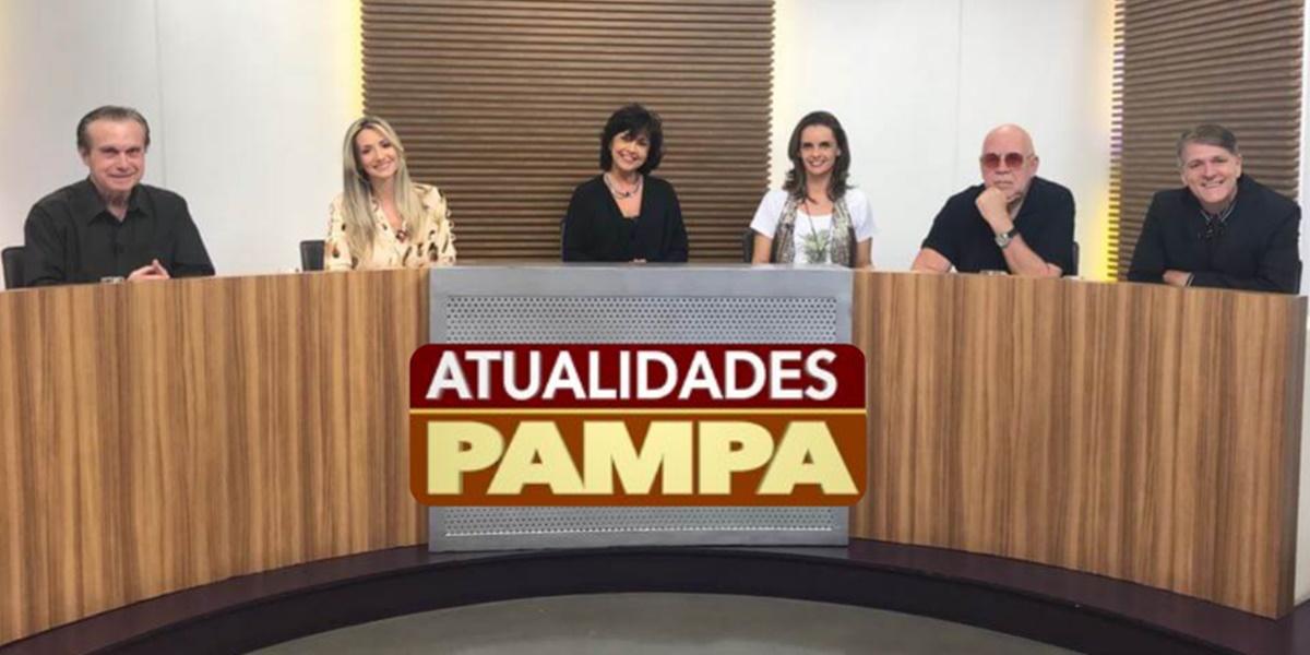 Apresentadores do programa Atualidades Pampa (Foto: Reprodução)