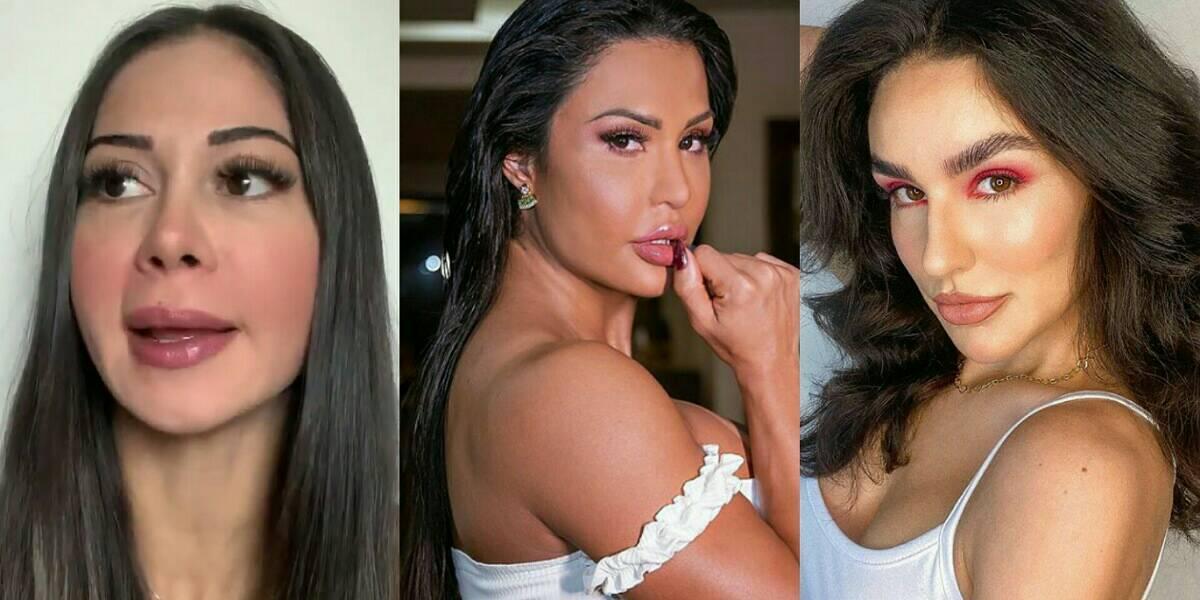 BBB 21: Mayra Cardi, Gracyanne Barbosa e Kéfera estariam entre as cotadas para o reality, segundo colunista (Foto: Reprodução)