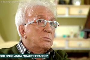 Moacyr Franco deu entrevista para o Domingo Espetacular (Foto montagem)