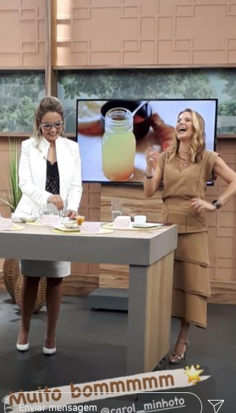 Domingues, que é doutora, no programa da TV Gazeta (Foto reprodução: Instagram)