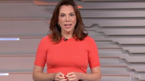 Ana Paula Araújo abriu o Bom Dia Brasil trazendo notícia aos Brasileiros (Foto reprodução)