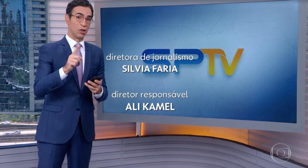 César Tralli pegou celular no encerramento de telejornal e chocou o Brasil com informação (Foto reprodução)