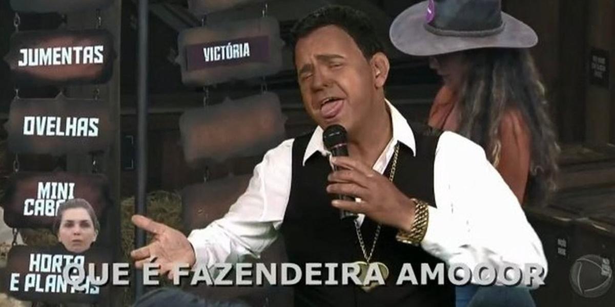 Carioca recebeu enxurrada de críticas após blackface em A Fazenda 12 (Foto: Reprodução)