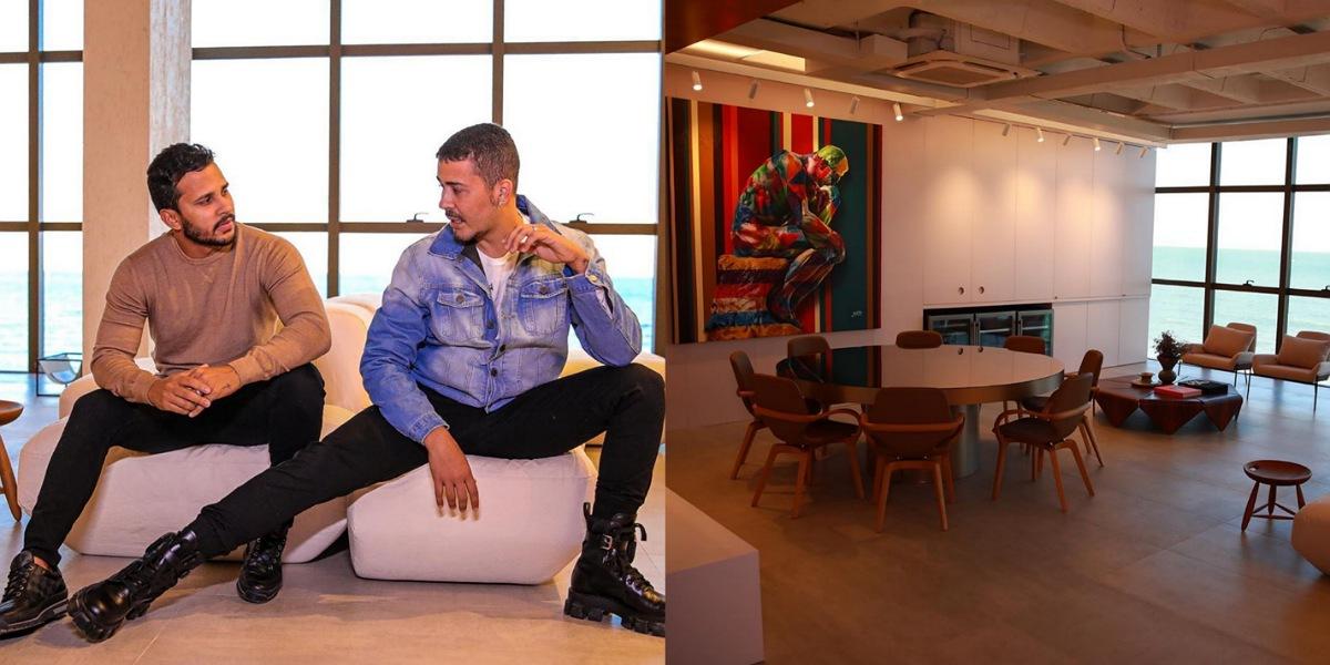 Carlinhos Maia e marido inauguram novo apartamento em Alagoas (Foto: Reprodução/ Nivan Silva)