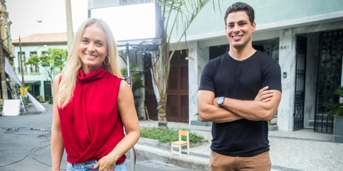 Cauã Reymond em entrevista para o podcast da apresentadora Angélica (Foto: Reprodução/Globo)