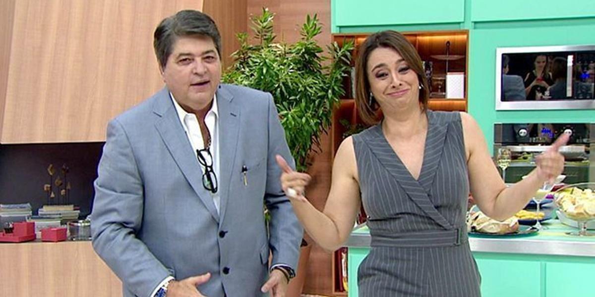 Datena e Catia Fonseca formam parceria nas tardes da Band (Foto: Reprodução)