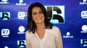 Adriana Araújo comandava o Jornal da Record (Foto montagem)