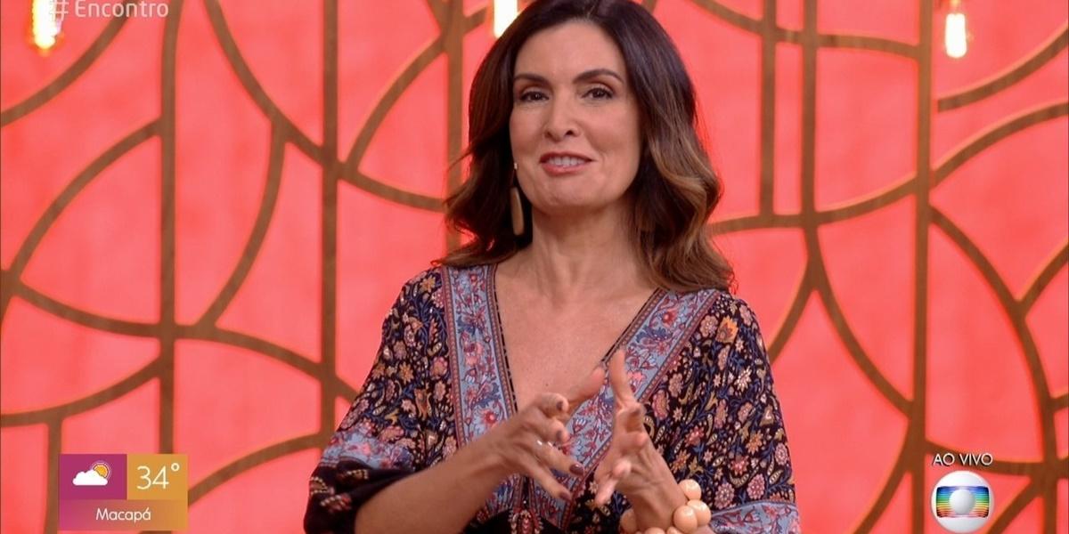 """Fátima Bernardes mostrou foto de seu RG durante programa """"Encontro"""" (Foto: Reprodução)"""