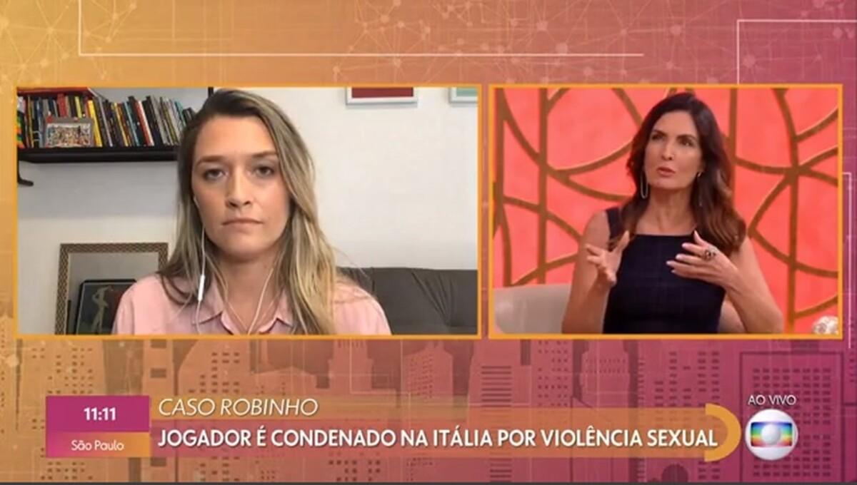 Ana Thaís no Encontro da Globo (Foto: Reprodução)