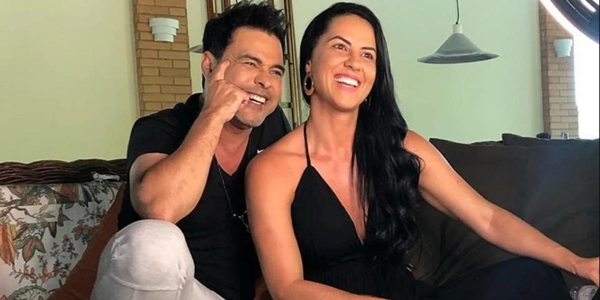 Graciele Lacerda e Zezé Di Camargo comem juntos durante viagem