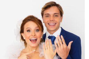 Larissa Manoela e Leo Cidade assustam fãs após aparecerem vestidos de noiva (Foto: Reprodução/ Léo Aversa)