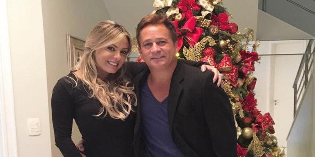 Leonardo e a esposa, Poliana Rocha (Foto: Reprodução / Instagram)