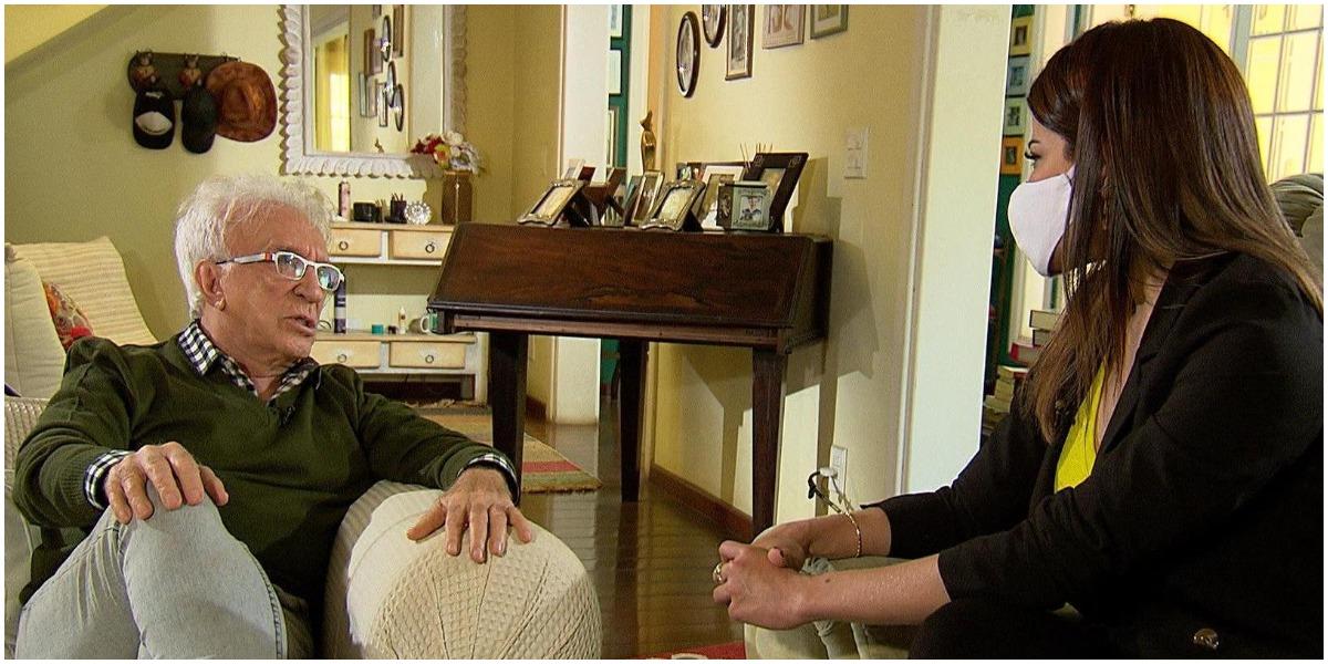 Moacyr Franco concedeu entrevista ao Domingo Espetacular - Foto: Reprodução