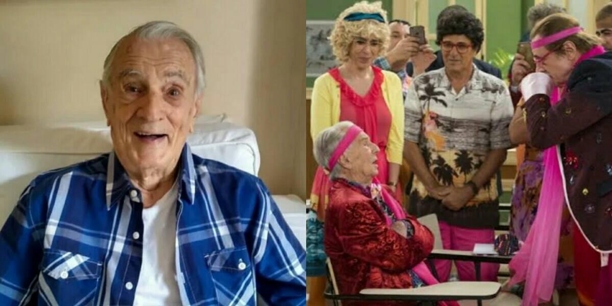 O verdadeiro Seu Peru (Orlando Drummond) na nova temporada do humorístico Escolinha do Professor Raimundo. (Foto: Globo/ Estevam Avellar)