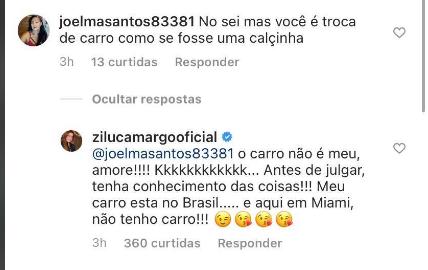 Post de Zilu causa polêmica em Instagram