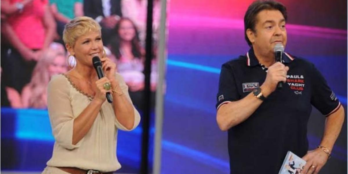 Xuxa e Faustão na Globo (Foto: Reprodução)