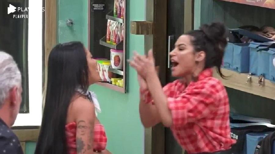 Mc Mirella discute com Raíssa após formação da roça (Foto: Reprodução)