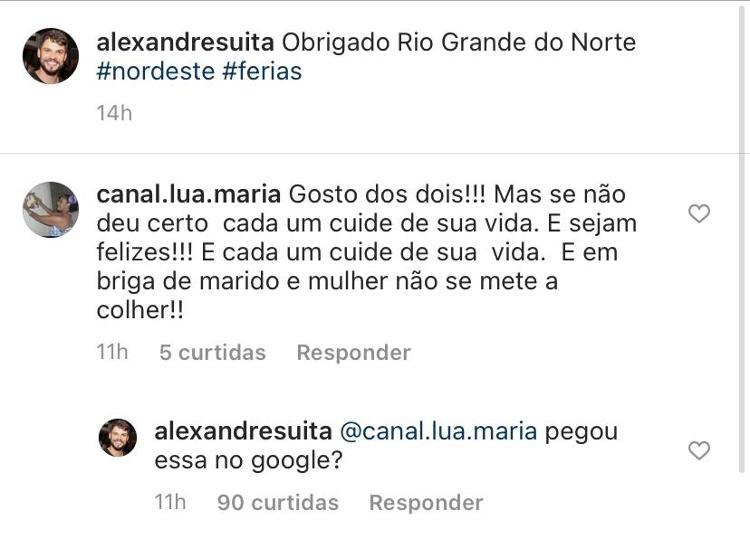 Alexandre, irmão de Andressa Suita, alfinetou Gusttavo Lima (Foto: reprodução/Instagram)