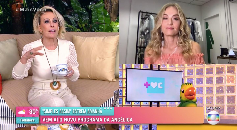 Ana Maria Braga entrevistou Angélica (Foto: reprodução/Globo)
