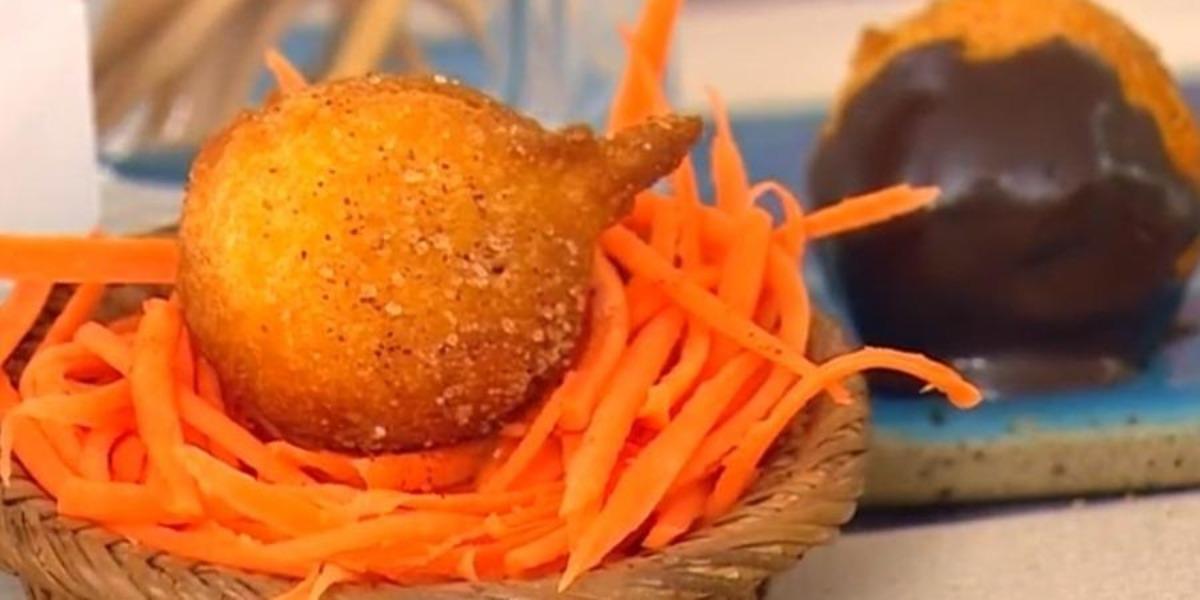Ana Maria Braga prepara bolinho de chuva com cenoura no Mais Você de hoje (Foto: Reprodução)