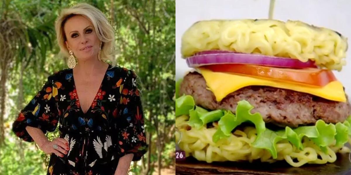 Ana Maria Braga prepara hambúrguer de macarrão no Encontro de hoje (Foto: Reprodução)