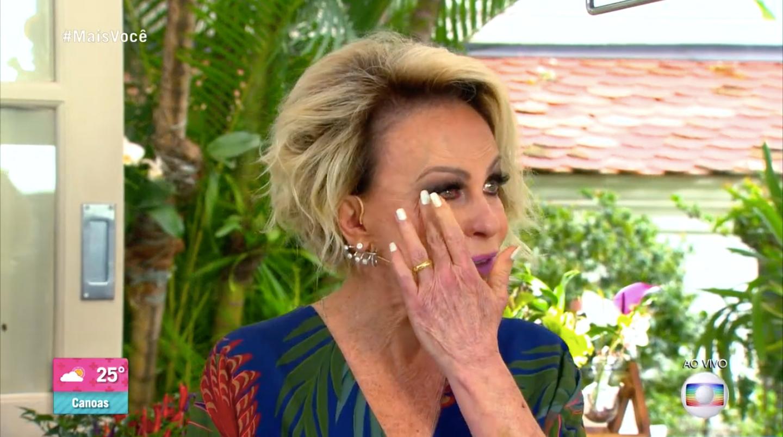 Ana Maria Braga caiu no choro durante o 'Mais Você' (Foto: reprodução/Globo)