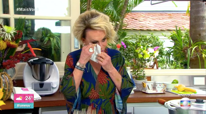 Ana Maria desabou durante o especial de 21 anos do 'Mais Você' (Foto: reprodução/Globo)