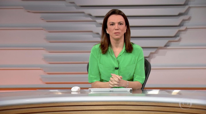 Ana Paula Araújo no comando do 'Bom Dia Brasil' (Foto: reprodução/Globo)