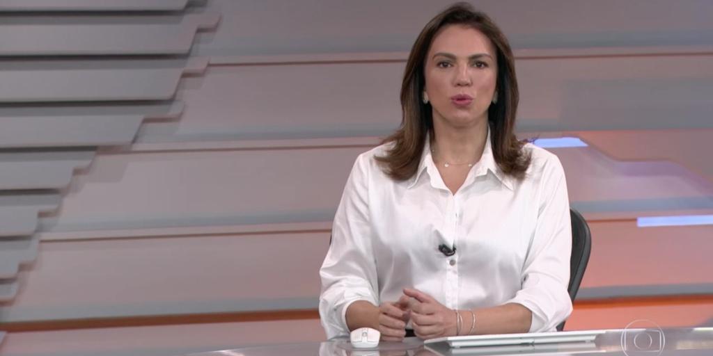 Ana Paula Araújo durante o 'Bom Dia Brasil' (Foto: reprodução/Globo)
