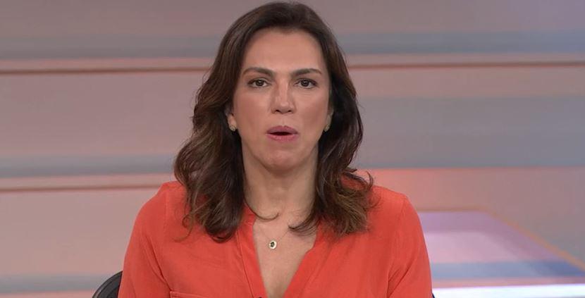 "Ana Paula Araújo no ""Bom Dia Brasil"" de hoje (Foto: Reprodução/TV Globo)"
