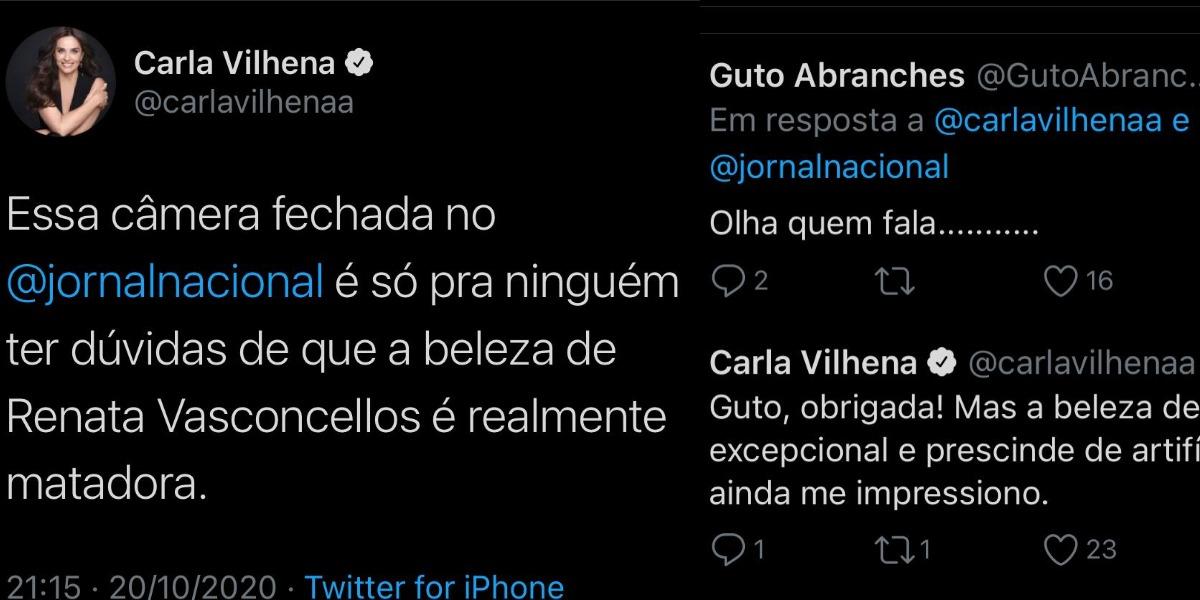 Carla Vilhena elogiou colega de profissão (Foto: Reprodução/Twitter)