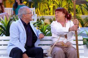 Carlos Alberto de Nóbrega vive tristeza com Moacyr Franco (Foto: Reprodução/SBT)