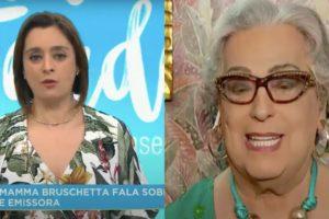 Catia Fonseca e Mamma Bruschetta dividiram espaço no 'Melhor da Tarde' (Foto: reprodução/Band)
