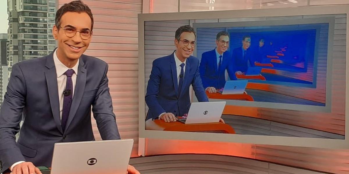 """César Tralli pode apresentar o """"Jornal Nacional"""", da Globo (Foto: Reprodução/Instagram)"""